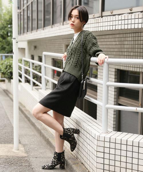 シャギータイトスカート