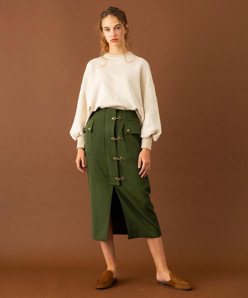 [UNITED TOKYO] ビットフロントタイトスカート