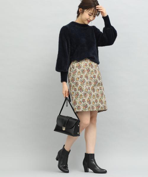 ゴブラン台形ミニスカート