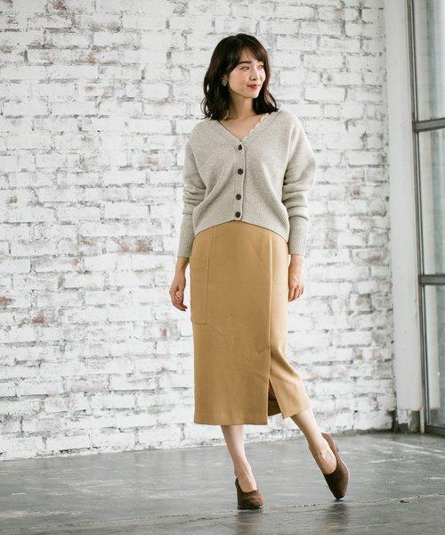 カルゼカラーポケタイトスカート