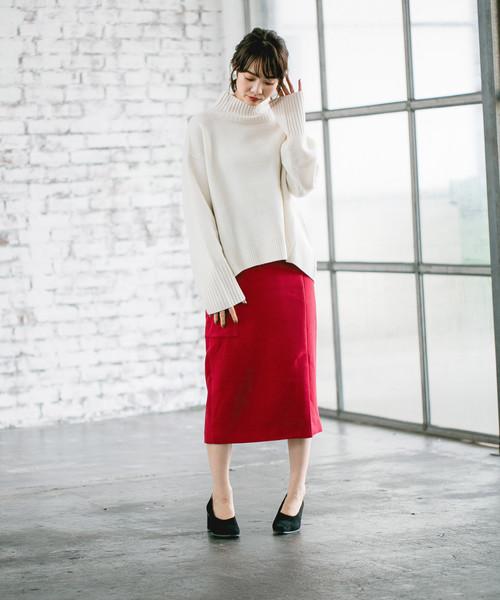 [apart by lowrys] Pカルゼカラーポケタイトスカート 812627