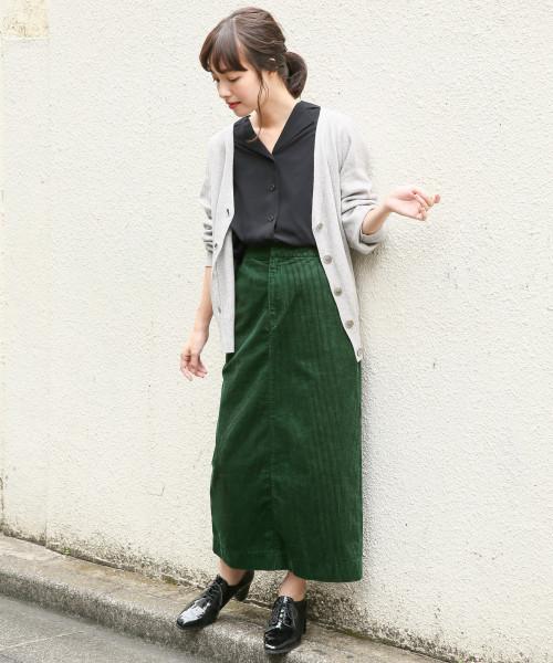 コーデュロイAラインスカート