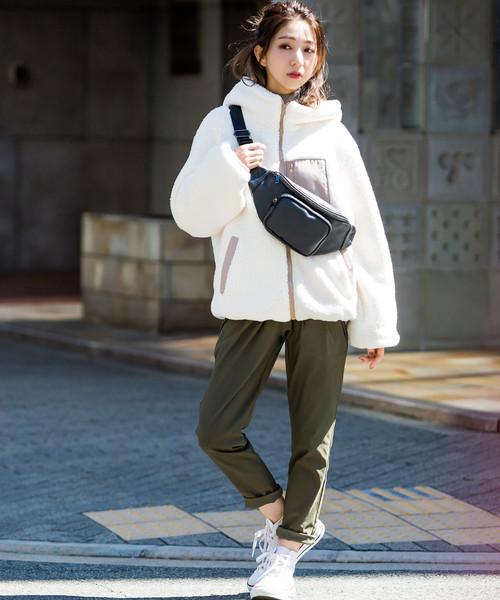 [Fashion Letter] ボアフード ブルゾン ジャケット