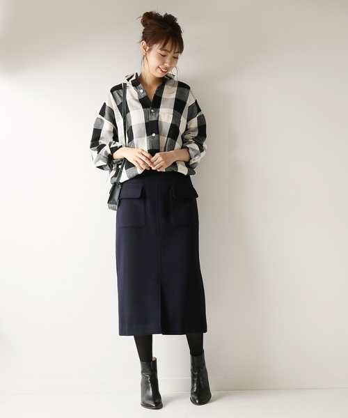 Wポケットビーバータイトスカート
