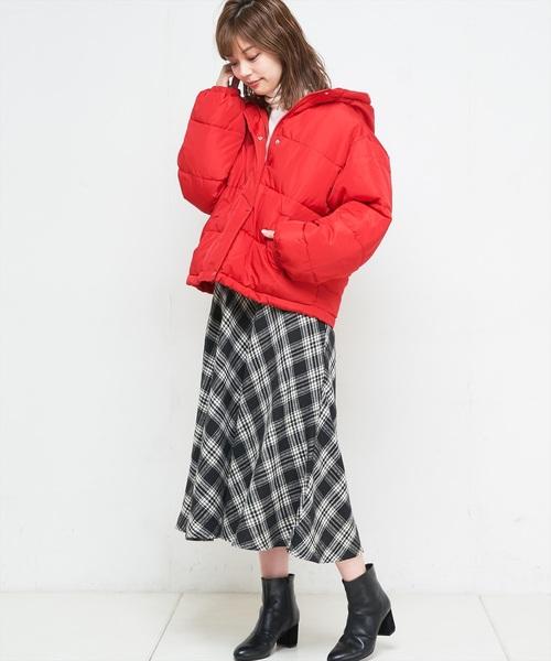ビッグチェックバイヤススカート