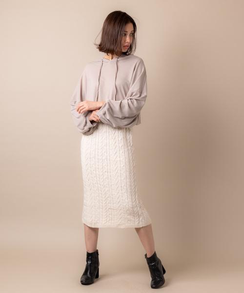 ケーブル編みニットスカート6