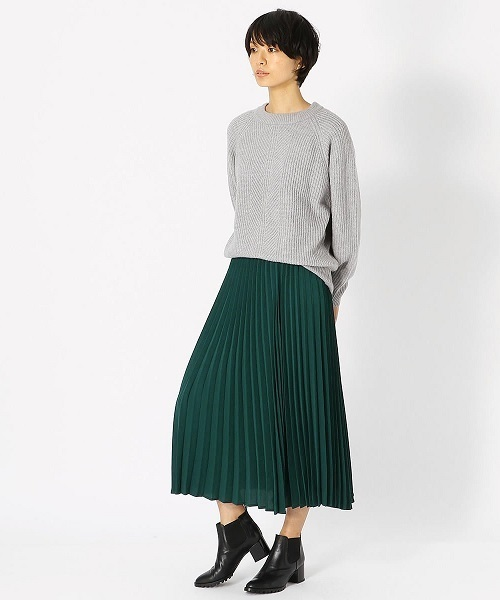 ロング プリーツスカート