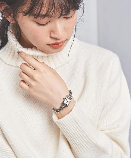 UBCB スクエア メタル チェーン 腕時計†