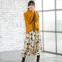 大人の冬フェミニンコーデ♡シーズンレスで使える「花柄スカート」15選