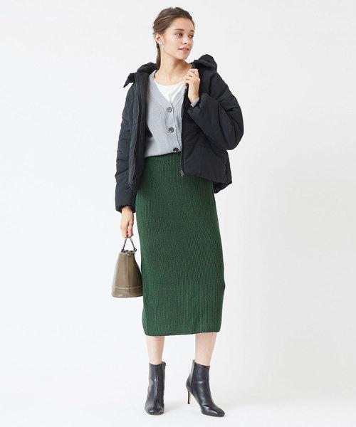 ニットロングタイトスカート