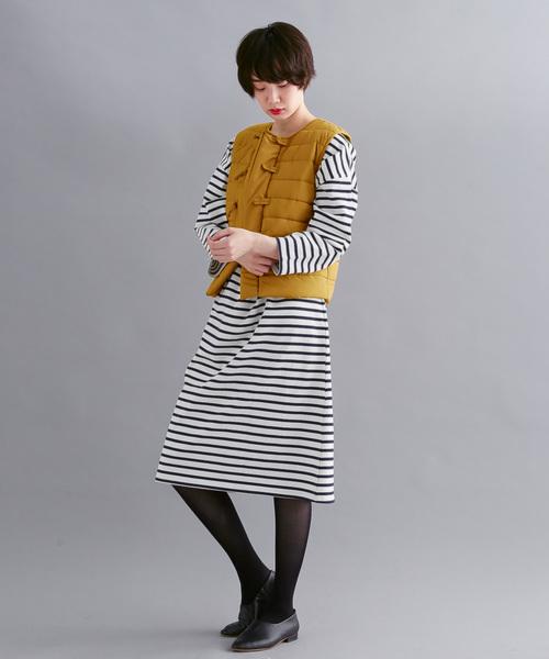 [merlot] チャイナボタン中綿ベスト052-7074