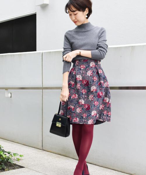 リバティフラワープリントスカート