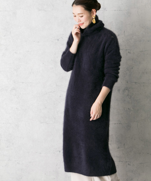 [URBAN RESEARCH ROSSO WOMEN] フェレットヘアーニットロングワンピース