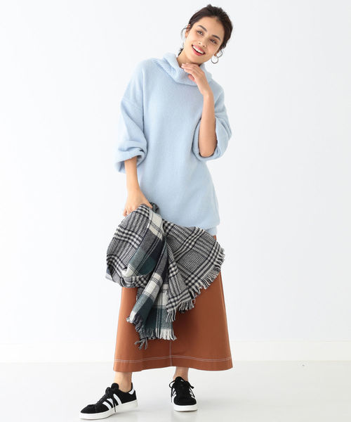 [B:MING LIFE STORE by BEAMS] ビーミング by ビームス / ヤク混ブークレ チュニック 18AW