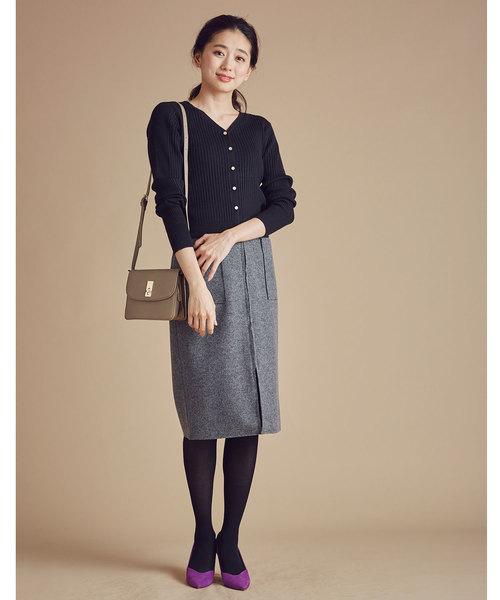 ウール両ポケタイトスカート