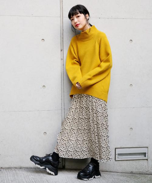 [LOWRYS FARM] レオパードマキシスカート