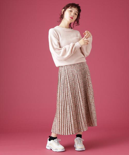 [OLIVE des OLIVE] [再入荷決定!] ウエストフリルプリーツスカート