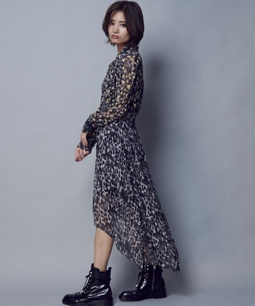 [ALLSAINTS] LIZA ASA DRESS   レオパード柄ドレス