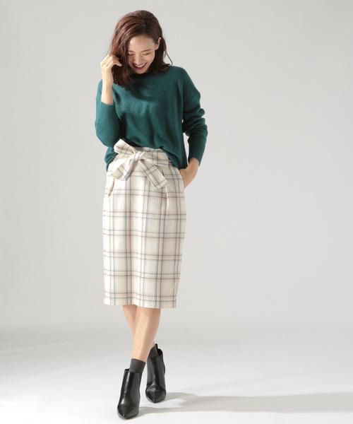 [BAYFLOW] リボンツキタイトスカート
