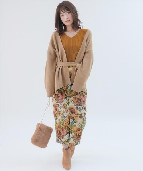[clear] ゴブランロングタイトスカート/ナロースカート/ペンシルスカート
