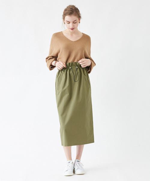 ドローストリングチノタイトスカート