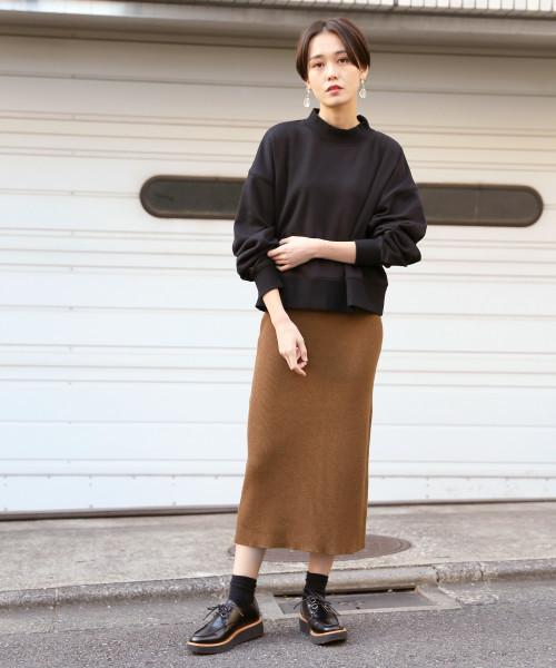 ウールニットタイトスカート