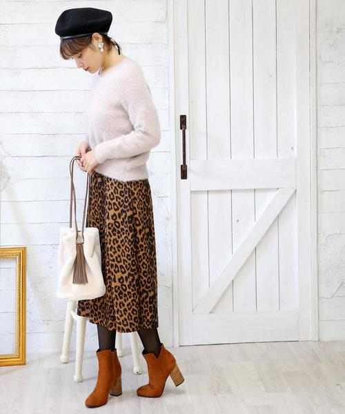 [Doula Doula] レオパードスカート