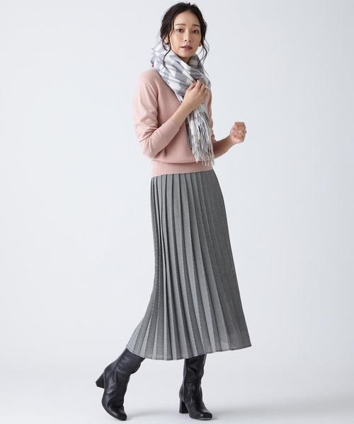 ウーステッド プリーツ スカート