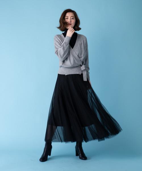 [YARD PLUS] AUNT MARIE'S チュールフレアロングスカート