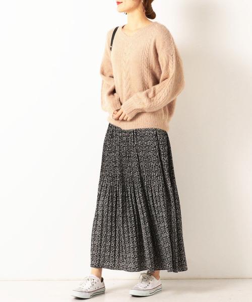 [archives] 小花消しプリーツスカート