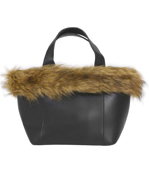 [Nina] エコファー付きハンドバッグ