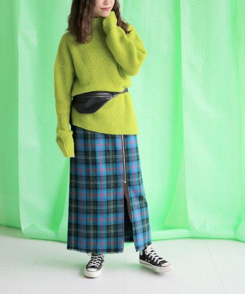 タータンチェックジップスカート