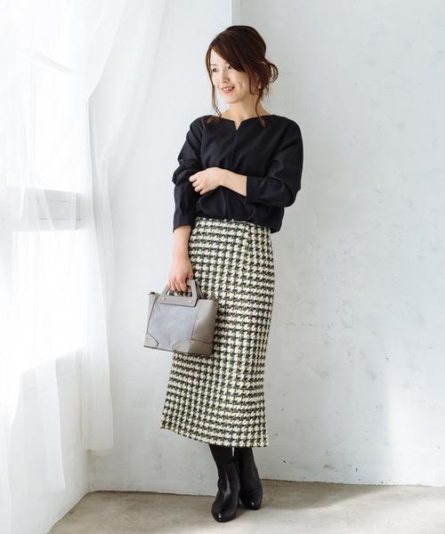 ヴィンテージツイードタイトスカート