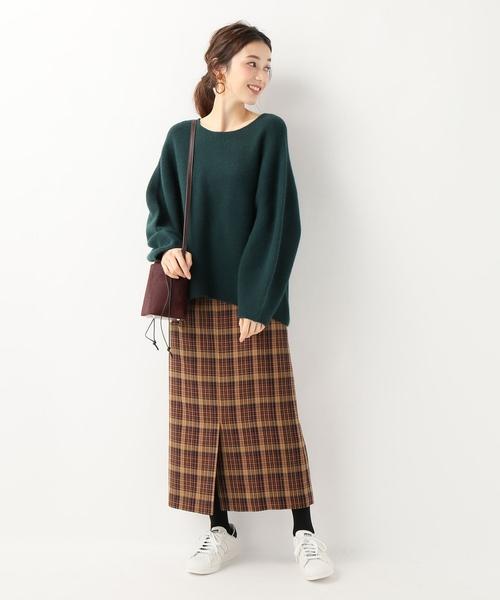ツイードチェック サイドポケットスカート
