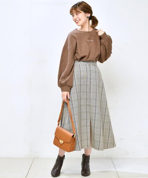 プチ釦キレイめミディスカート