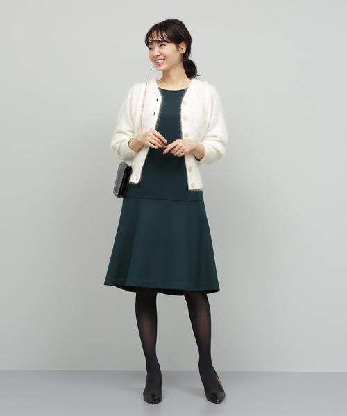 【2WAY】ファーカシミヤカーディガン