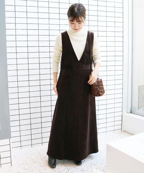 細コールジャンパースカート