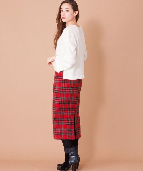 [en recre] 【GALENA】チェックタイトスカート
