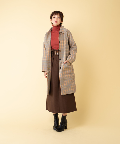 [YARD PLUS] AUNT MARIE'S ベルト付き起毛タイトロングスカート