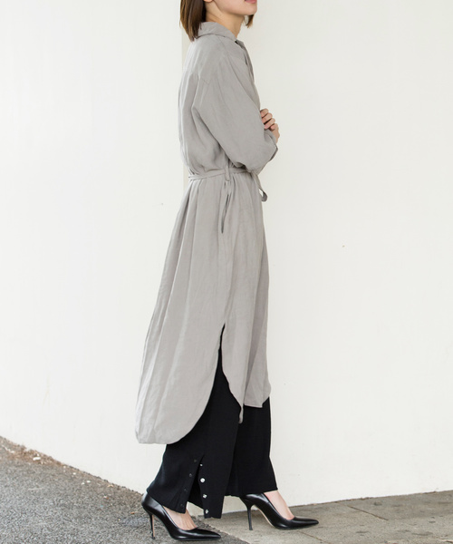 [Luz Llena] 裾ボタンニットワイドパンツ
