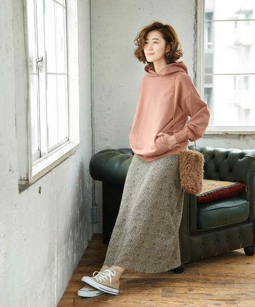 [ROPE' PICNIC] 【WEB限定】レオパード柄ロングスカート