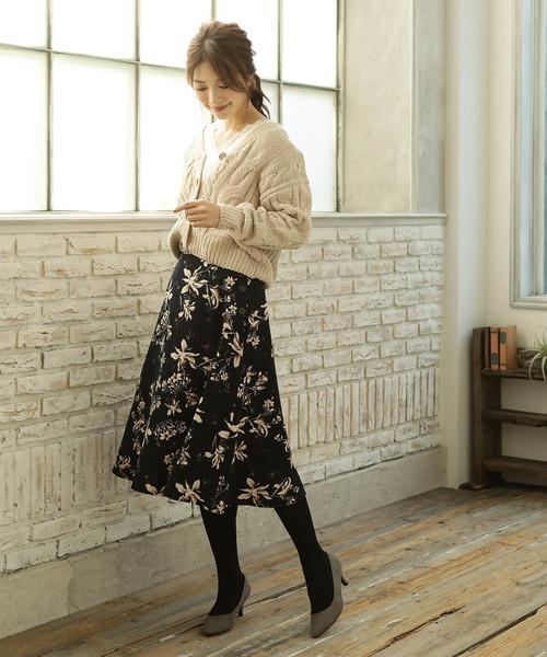 [ViS] フラワーフレアスカート