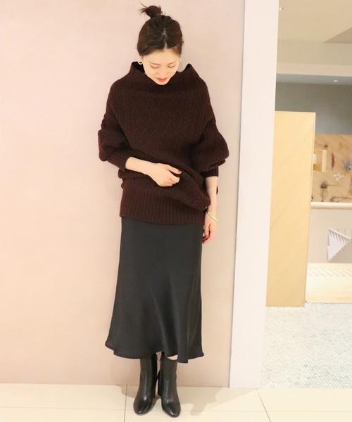 サテンマーメイドスカート4