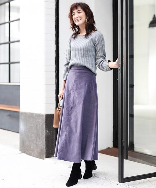 パープル系スカート3