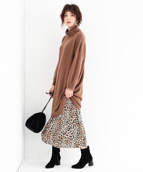 [koe] レオパード柄スカート