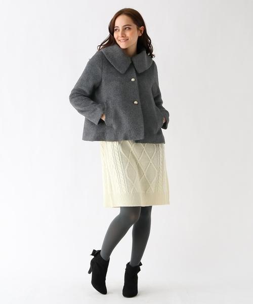 [Couture brooch] 【WEB限定サイズ(S・LL)あり】ヘアリーステンカラーコート