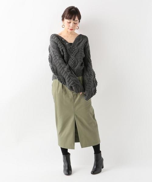 [IENA] SLOBE IENA Fi.m ワークタイトスカート◆
