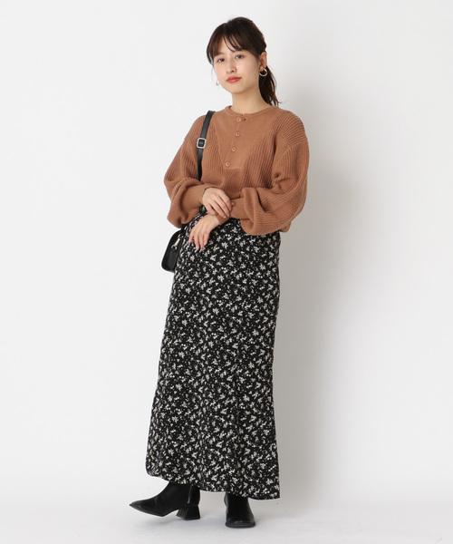 [Kastane] 小花柄マーメイドスカート