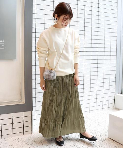 [IENA] ヴィンテージサテン プリーツスカート◆