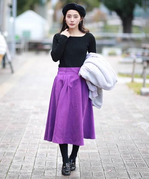 パープル系スカート4